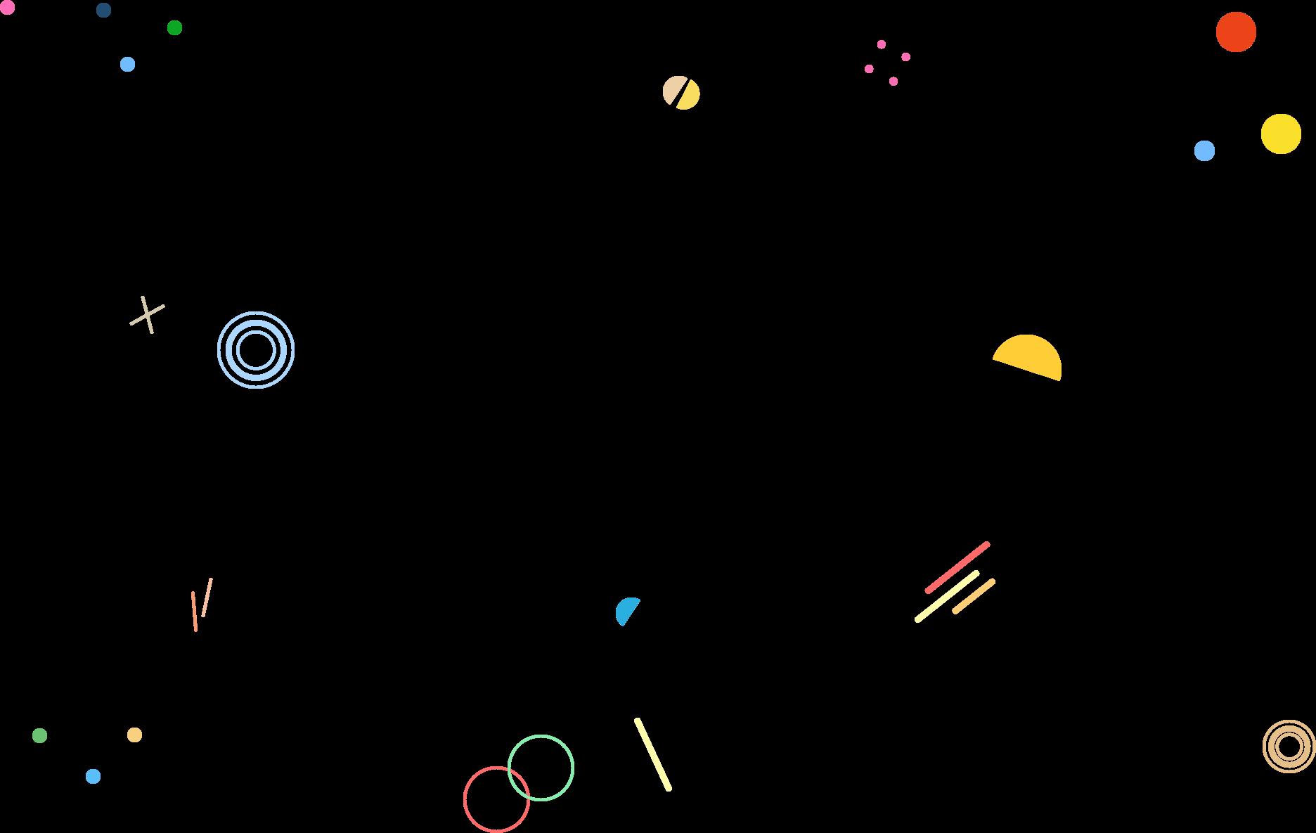 różne, kolorowe kształty